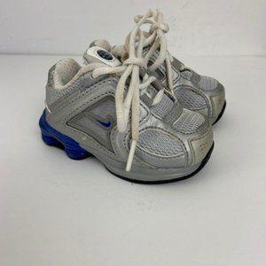 Nike Shox Silver Blue Sneakers 3.5C